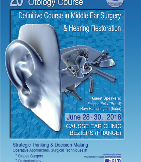 The 2018 Causse International Otology Course June 28-30 2018